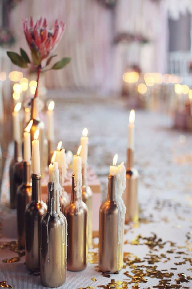 Diy candle wine bottles