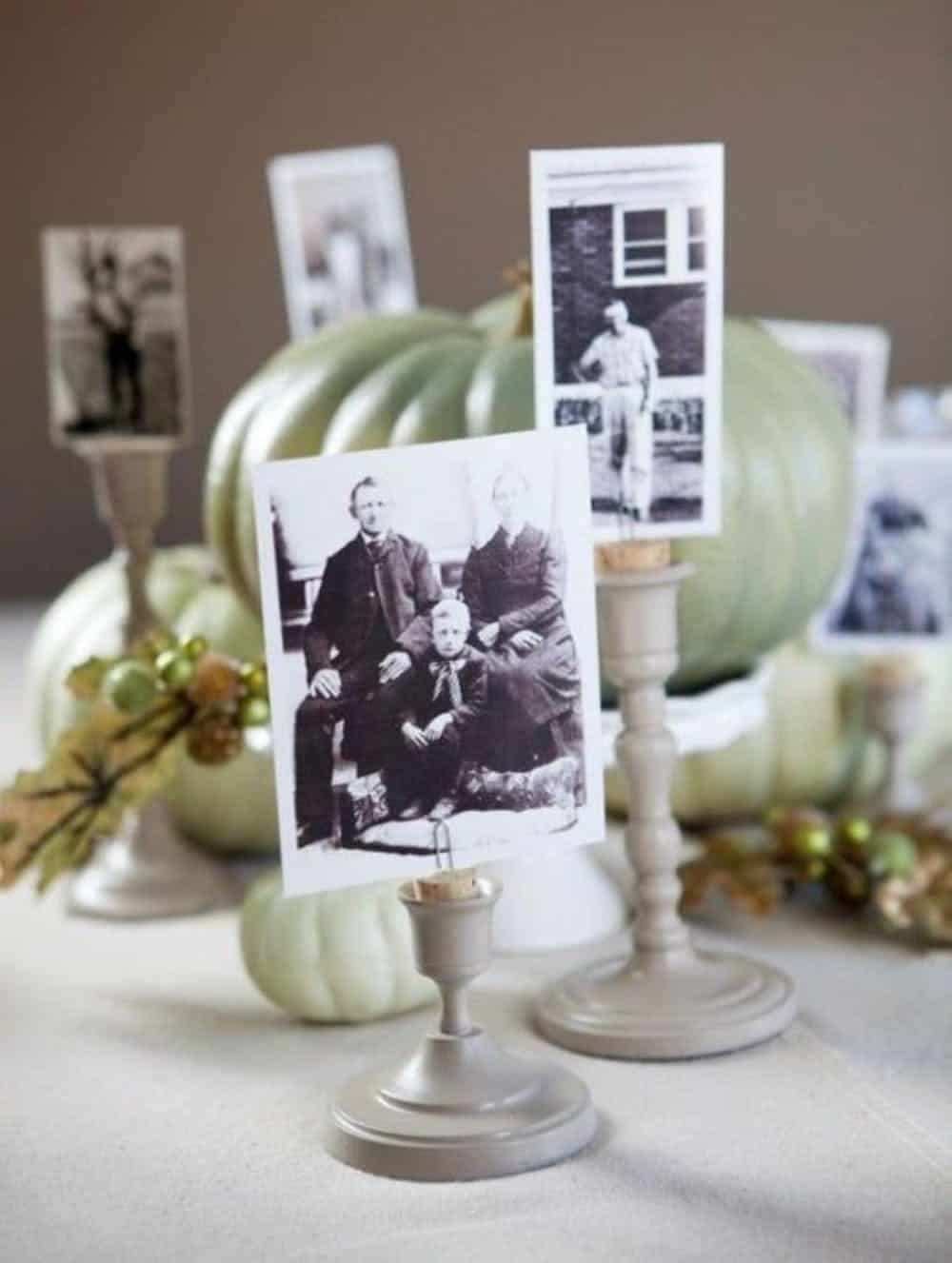 Diy candlestick photo holders from wine corks