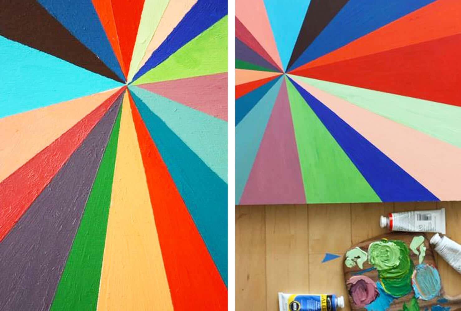 Diy canvas paintings pinwheel painting