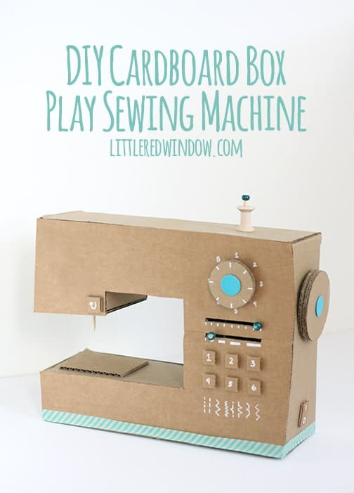 Diy cardboard sewing machine