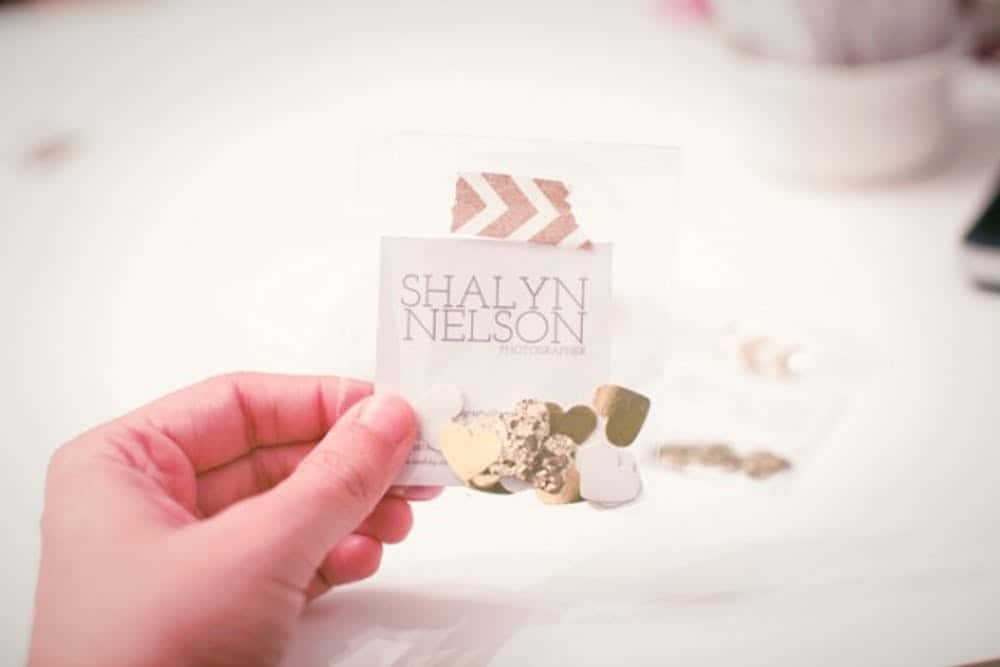 Diy confetti business cards