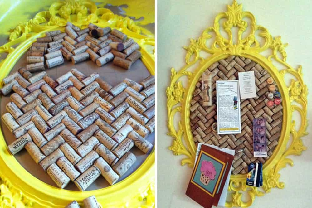 Diy cork corkboard