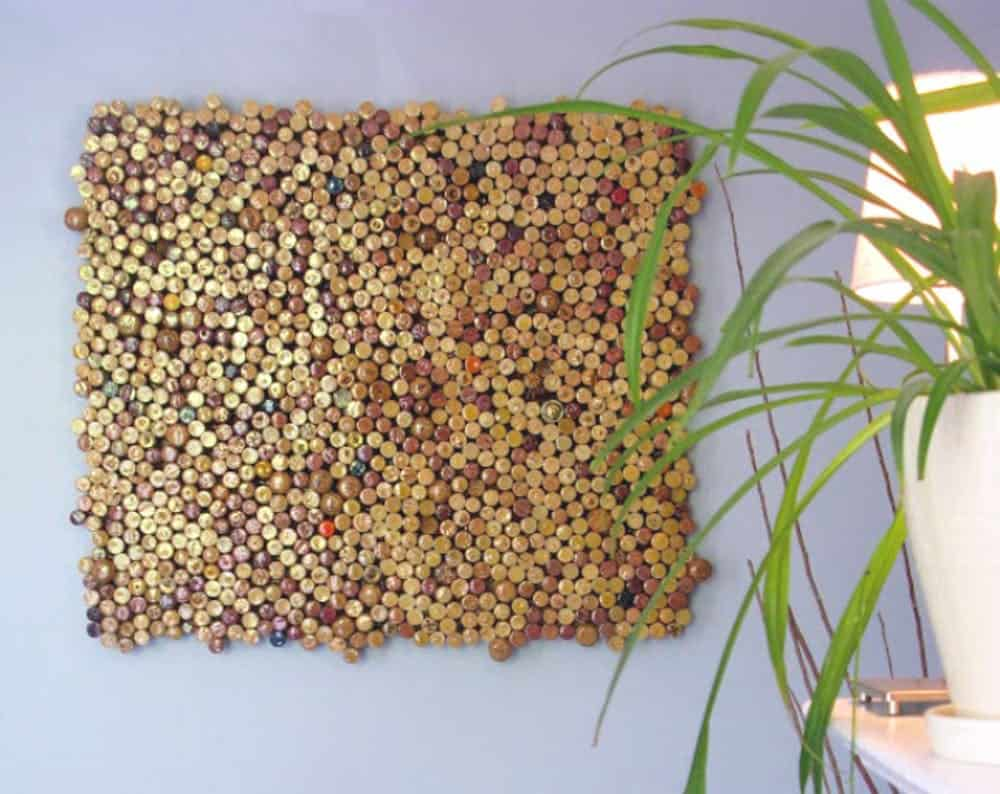 Diy cork three dimensional wall art
