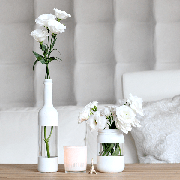 Diy cut out vase