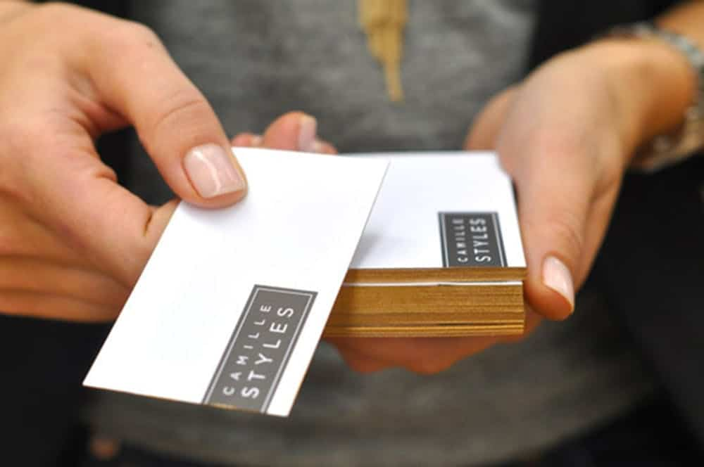 Diy gilded business cards