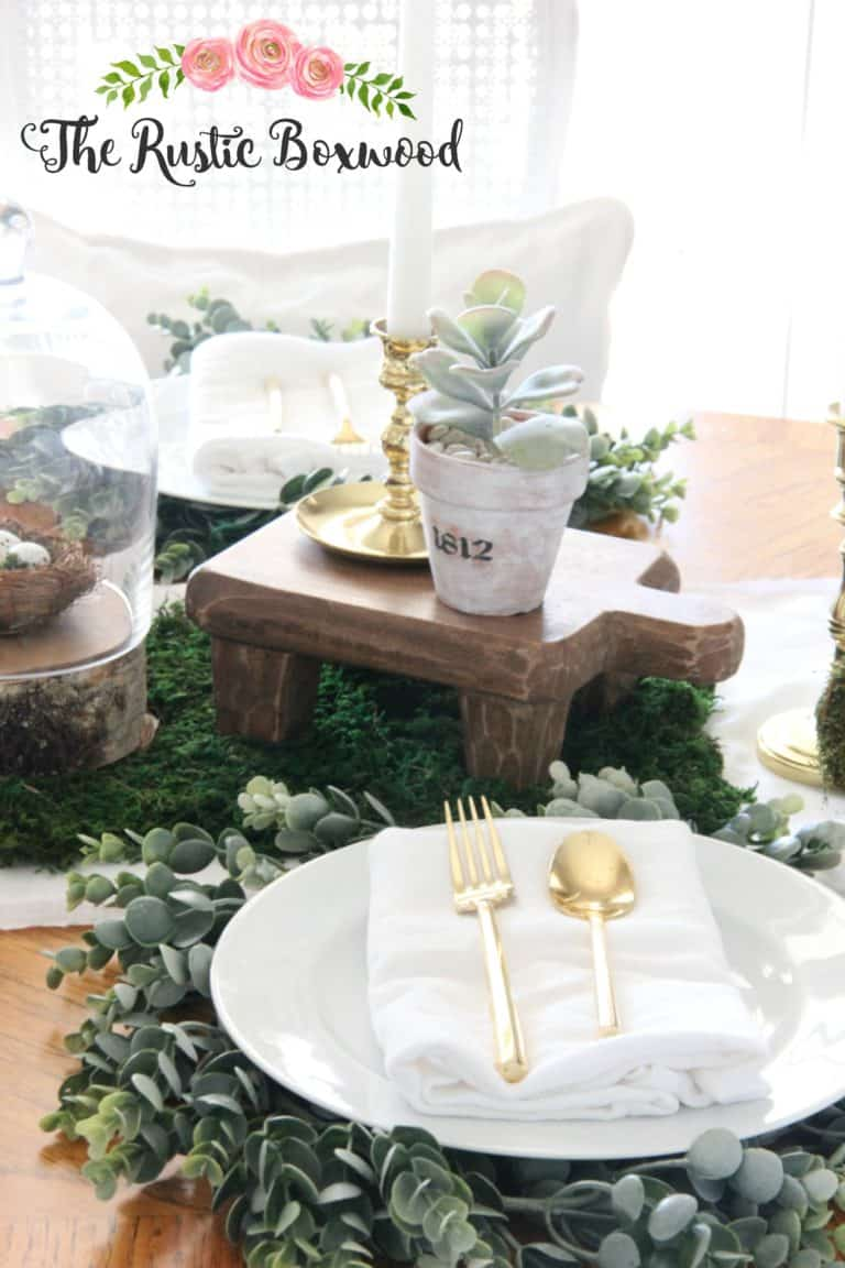 Diy greenery chargers