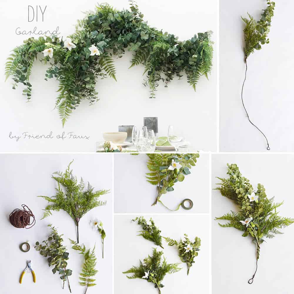 Diy lush green garland