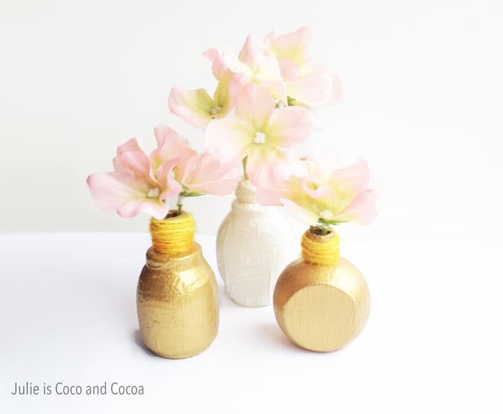 Diy mini bud vases