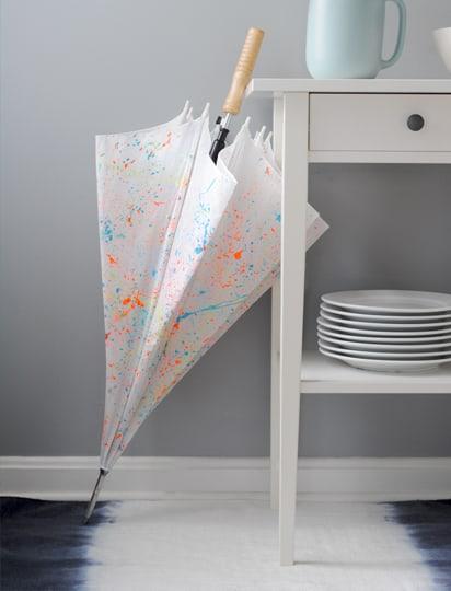 Diy paint splattered umbrella