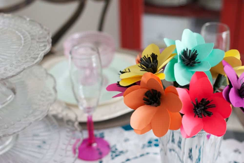 Diy paper flower decor