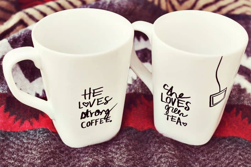 Diy sharpie mugs for couple