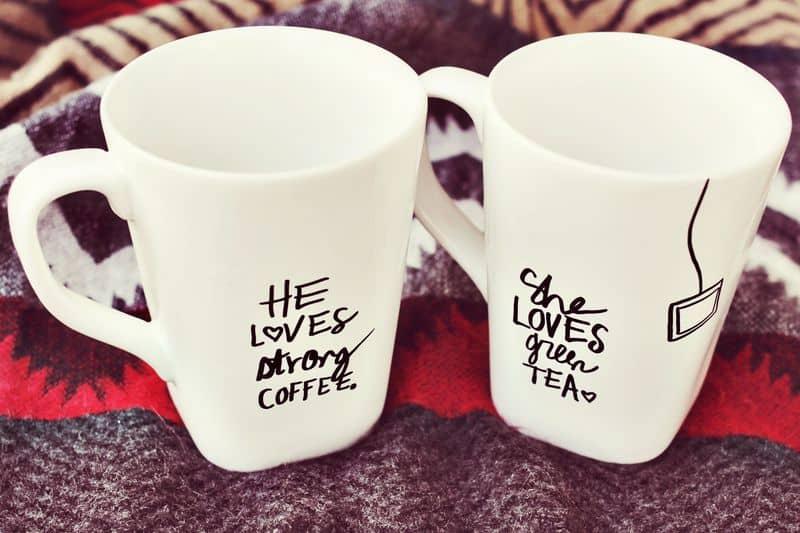 Diy sharpie mugs for couple