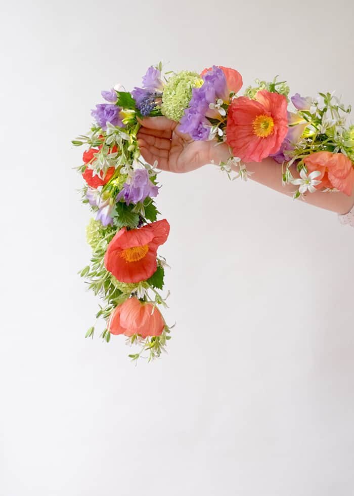 Diy spring flower string garland