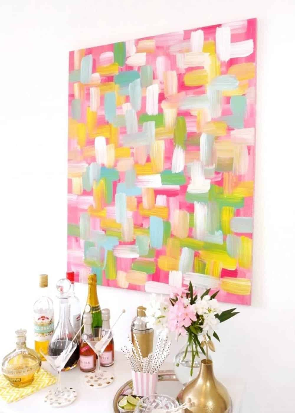 Diy swatch painted canvas