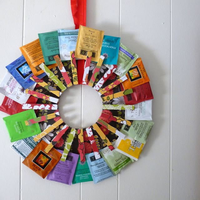 Diy tea wreath