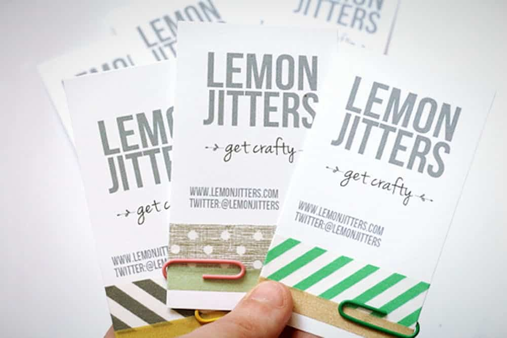 Diy washi tape business cards
