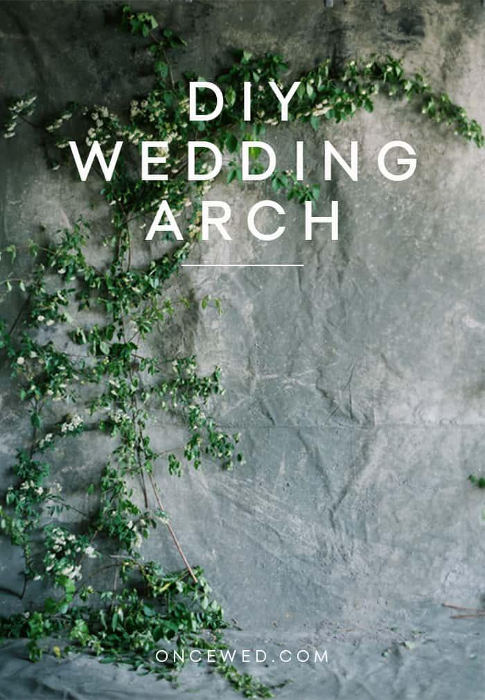 Diy wedding arch