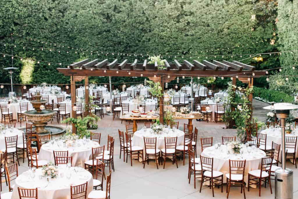 Franscican garden wedding venue