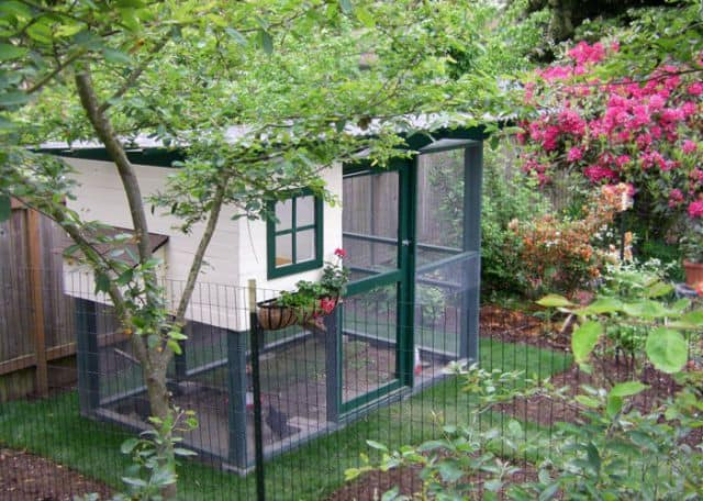 Garden chicken coop diy