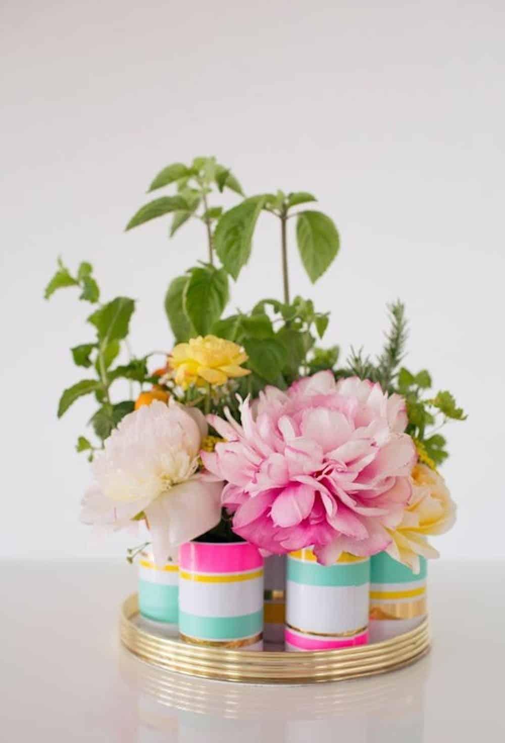 Garden floral vase cluster diy