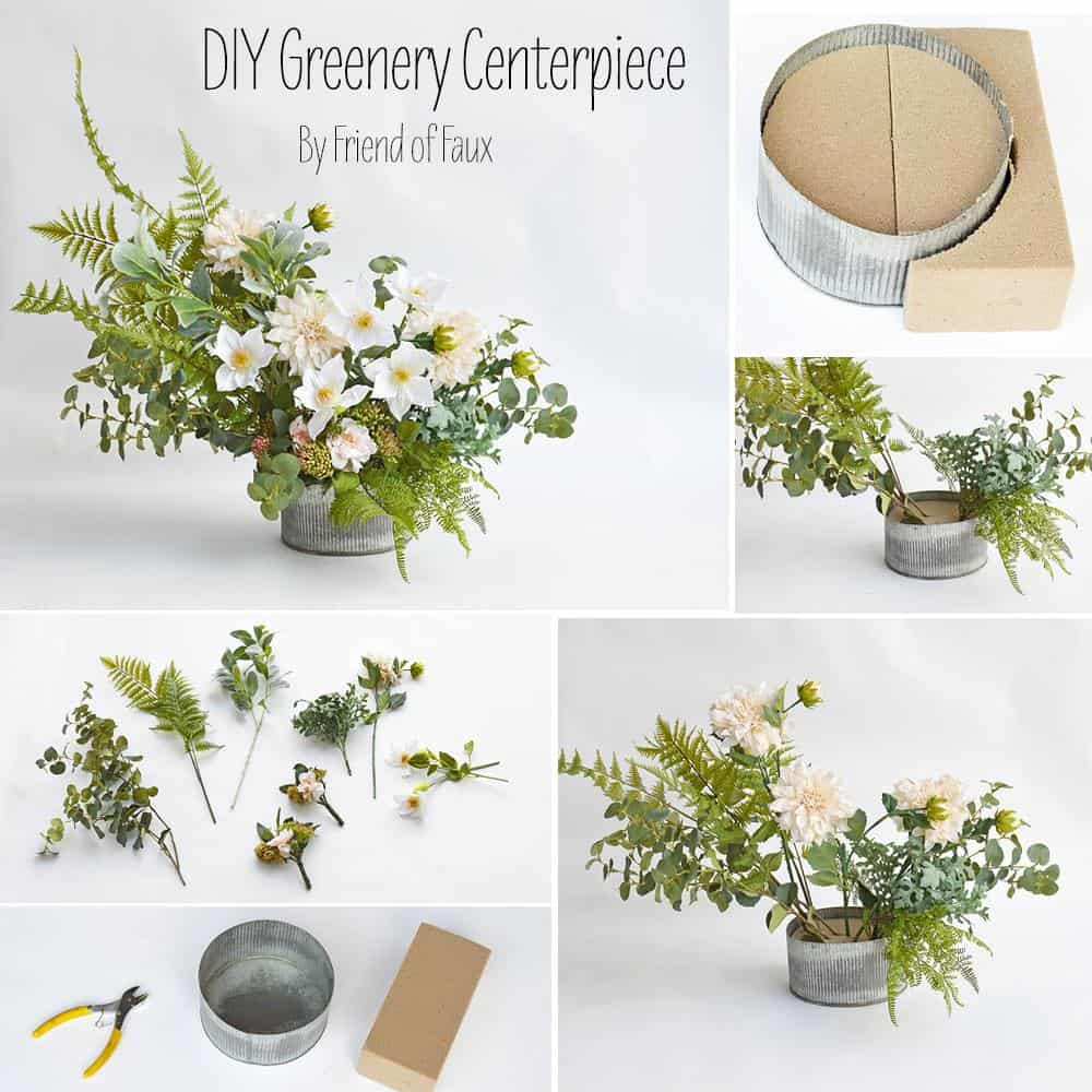 Greenery centerpiece diy