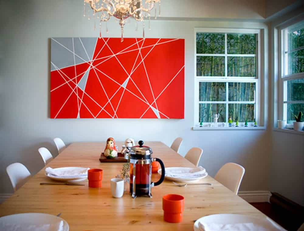 Modern lines canvas painting diy