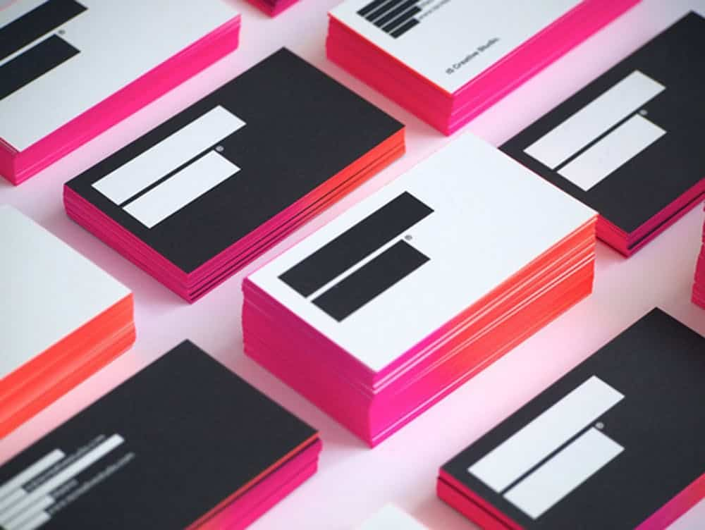 Ombre business cards diy