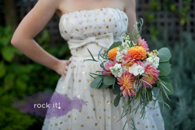 Rustic inspired wedding bouquet diy