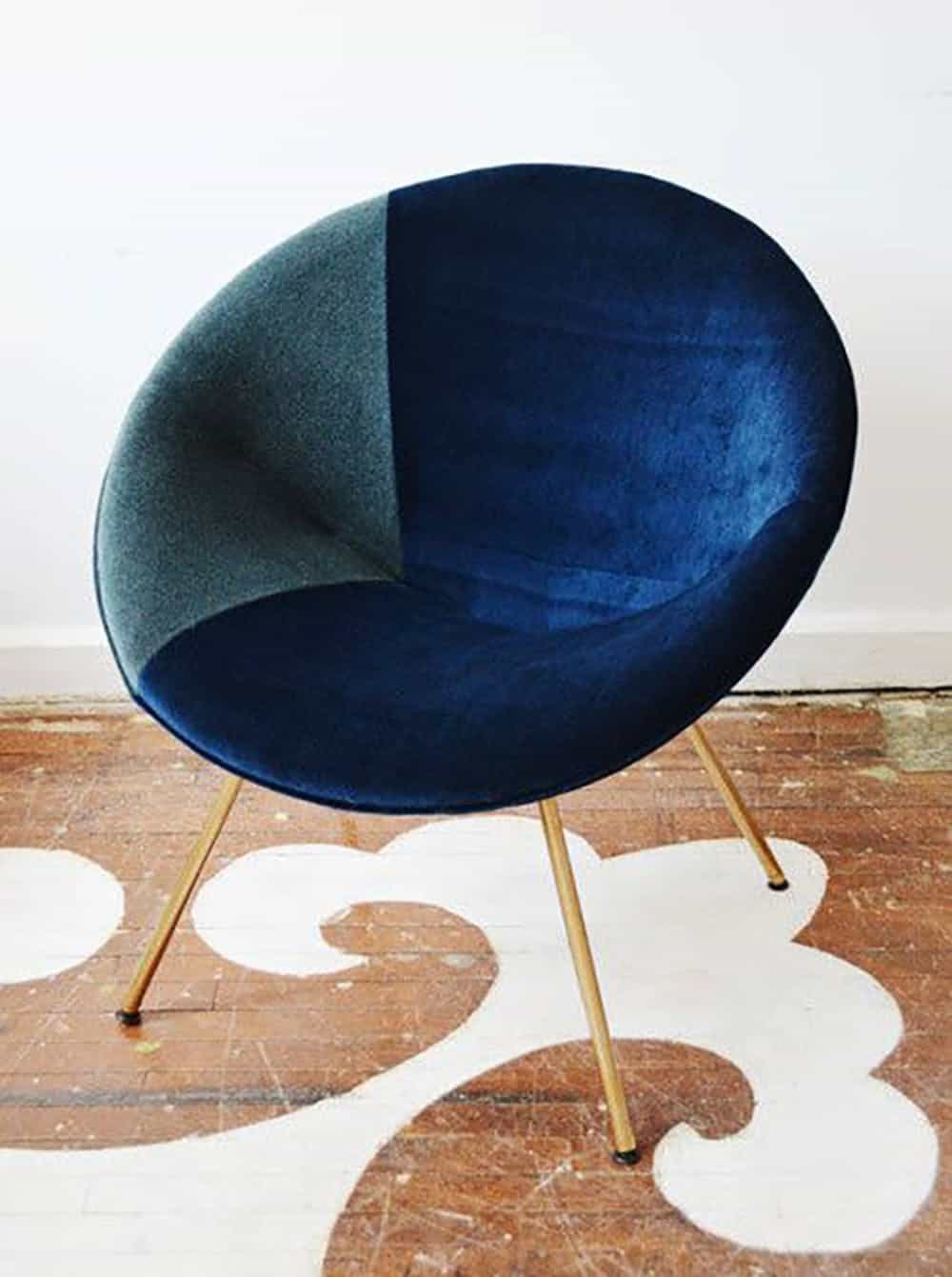 Saucer chair makeover