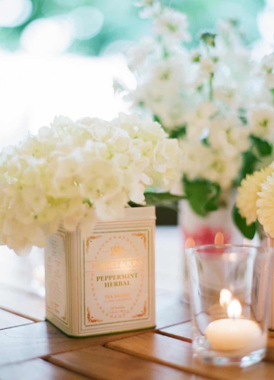 Tea can flower vases diy