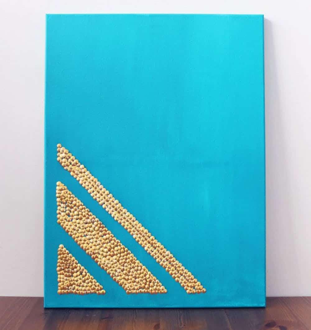 Thumbtack canvas art