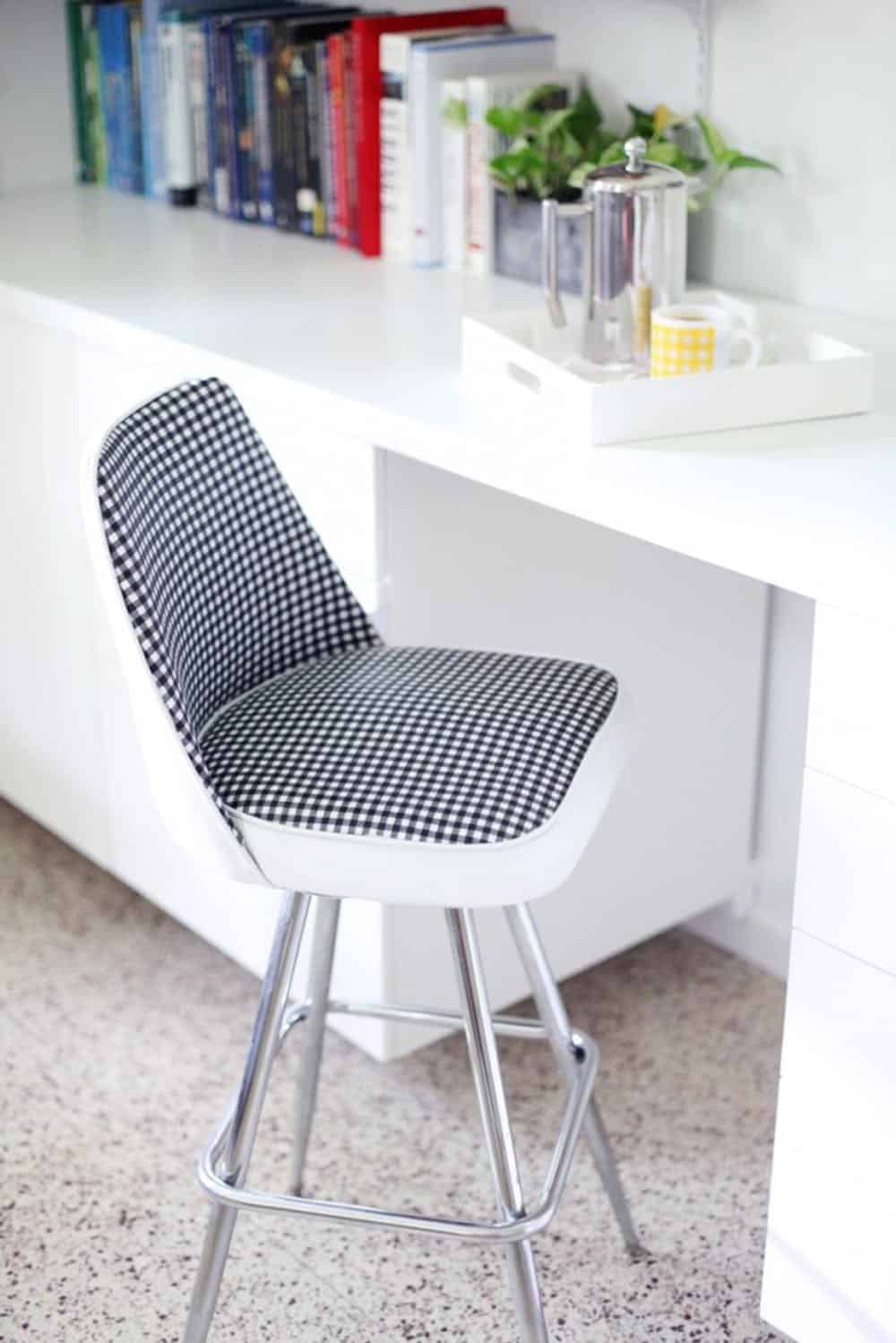 Vinyl chair makeover diy