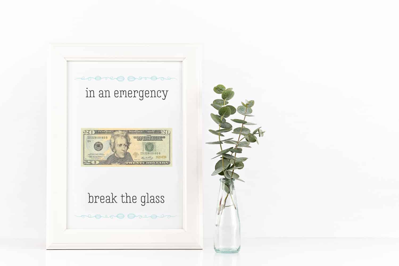 In an emergency money grad gift
