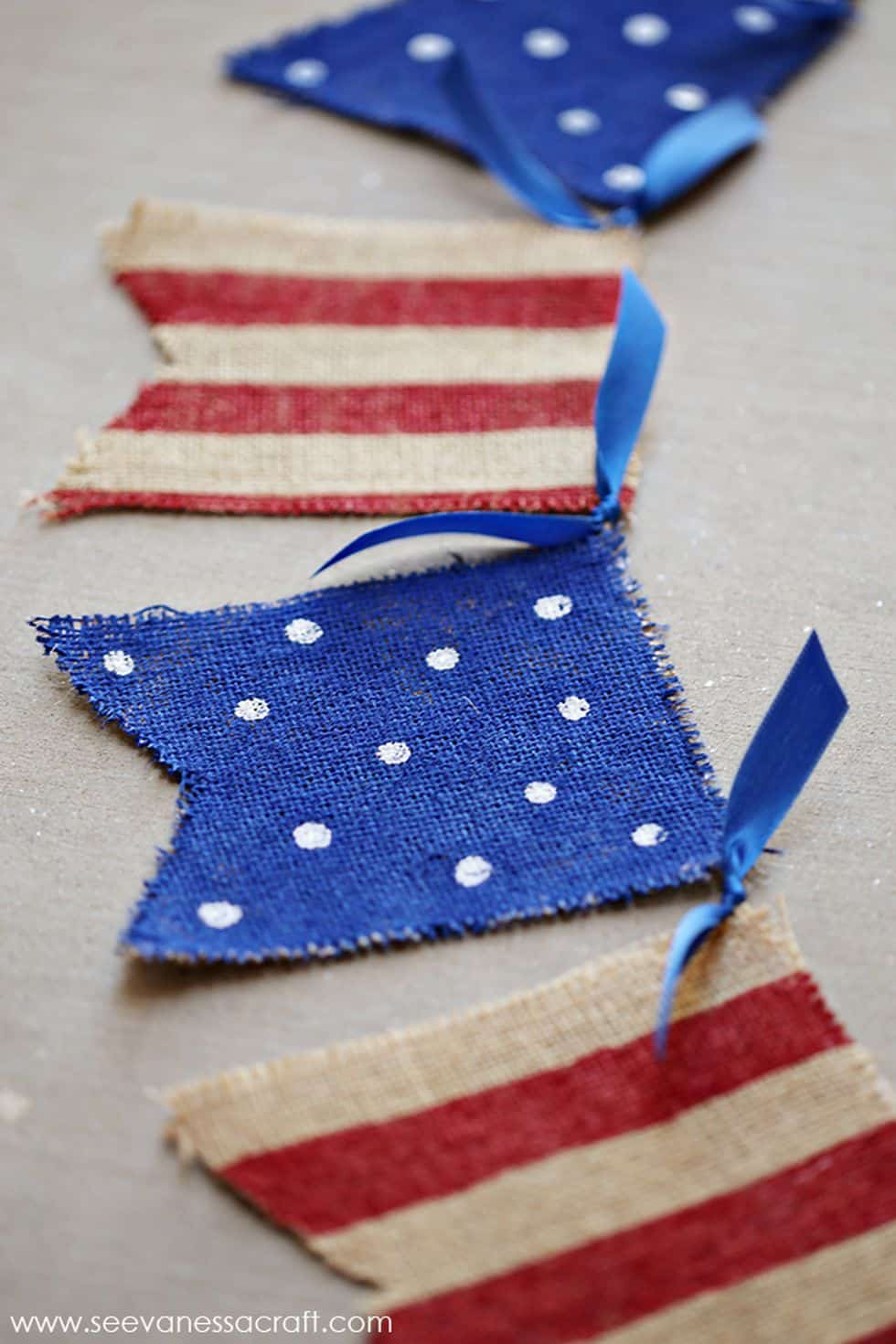 4th of july burlap banner diy