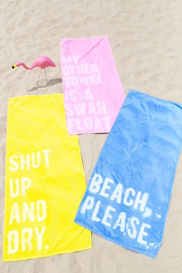 Bleach quote towels