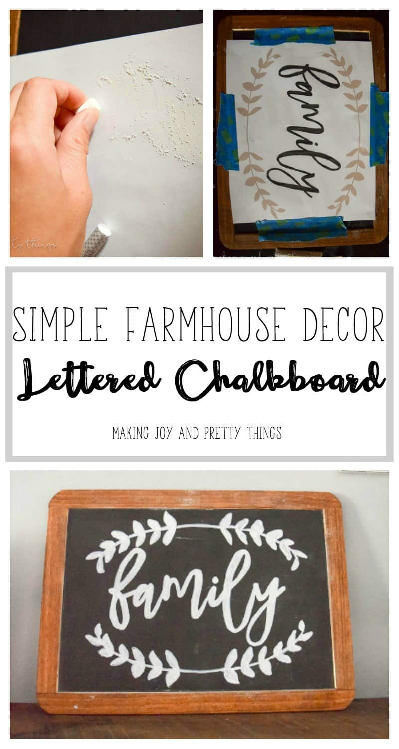Chalkboard calligraphy decor sign