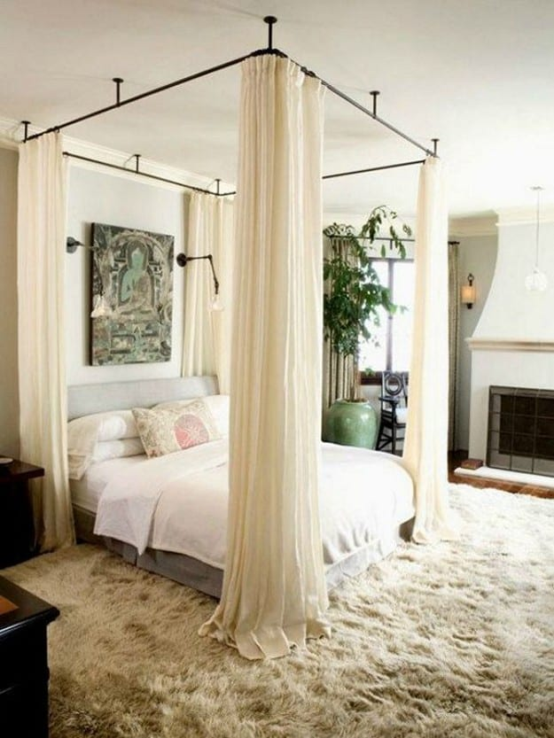 Diy canopy bed without drilling ideas