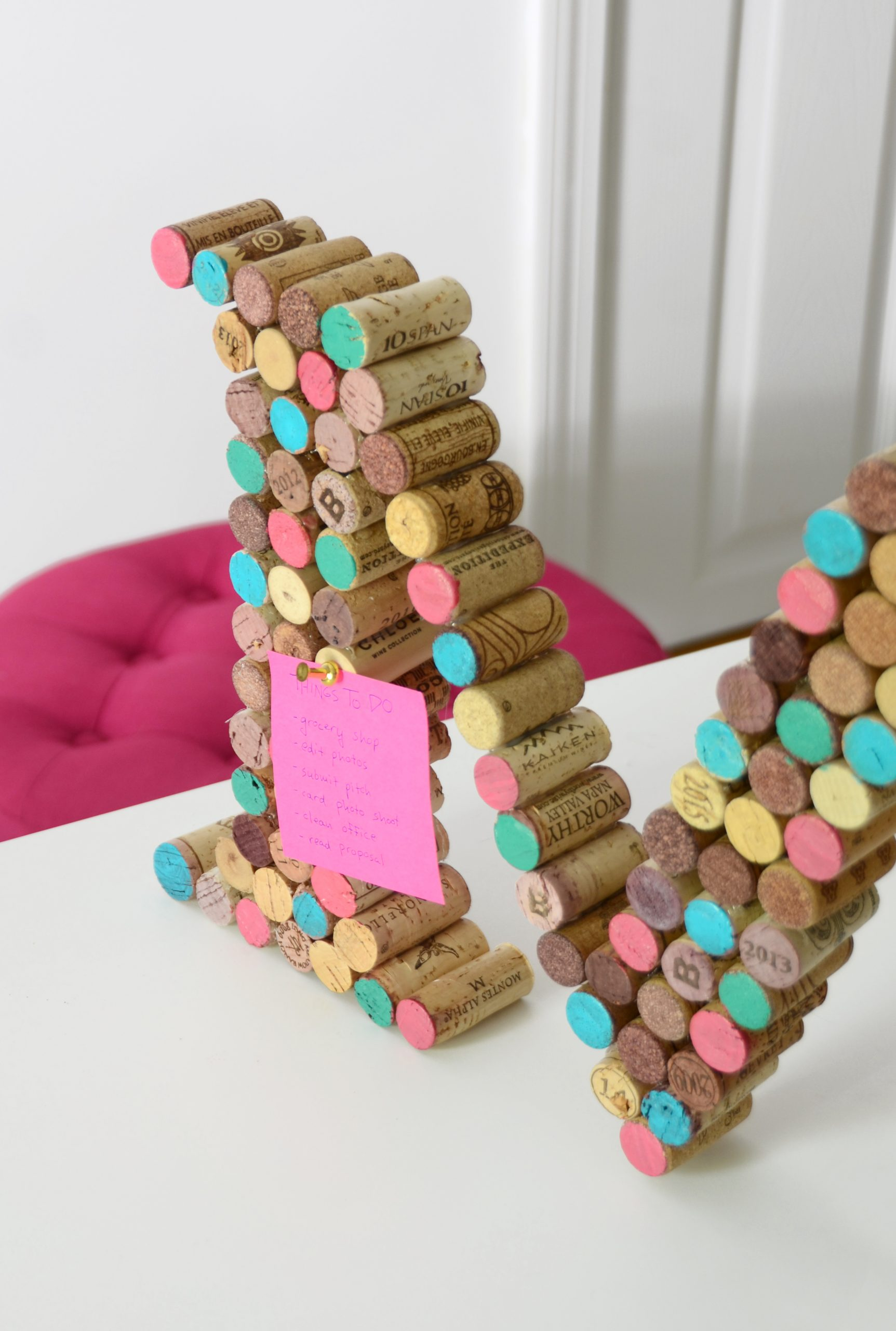 Diy cork monogram 9