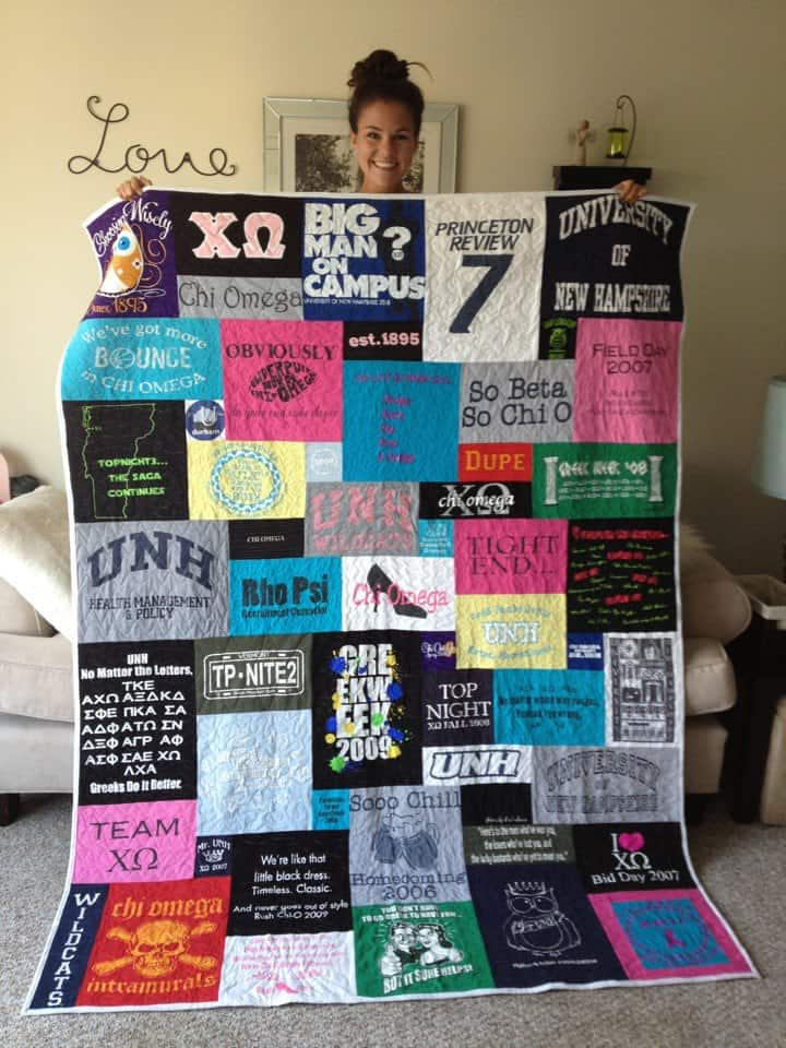Diy campus and team t shirt quilt