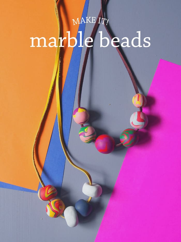 Diy clay marble beads