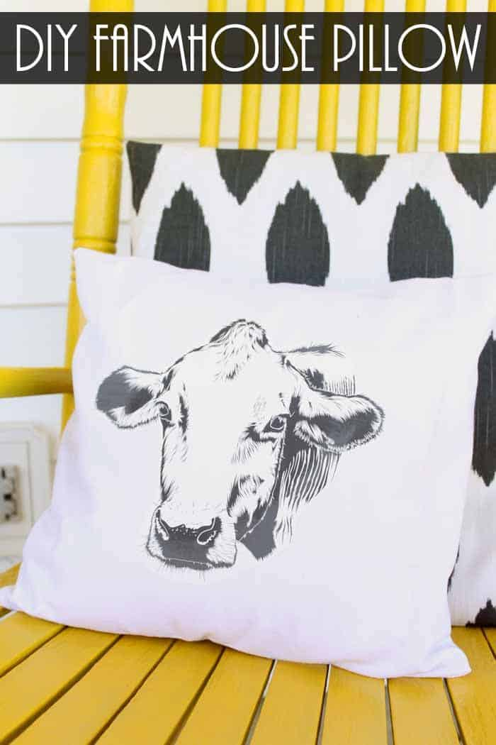 Diy farmhouse pillow