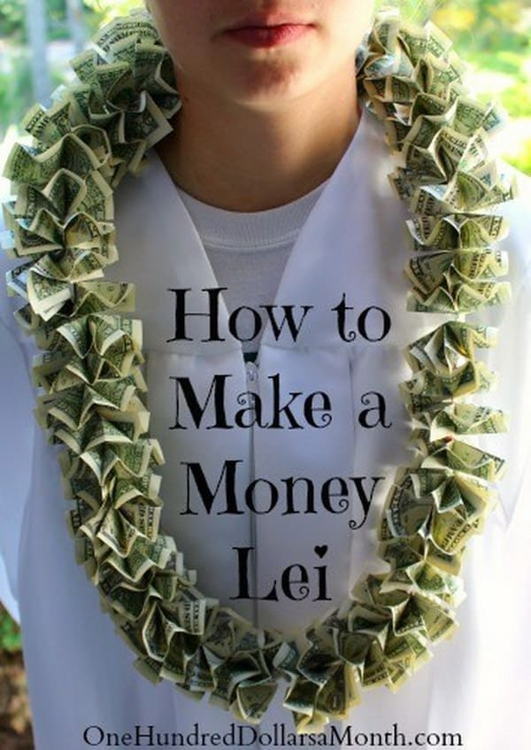 Diy grab money lei