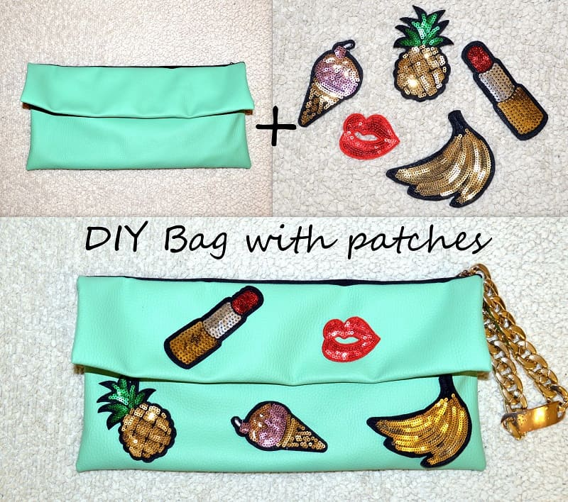 Diy sparkling patch clutch