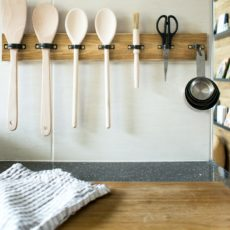 Diy wood and metal ring utensil rack