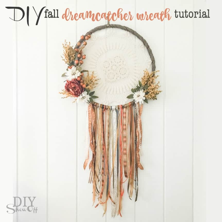 Fall flowers dream catcher