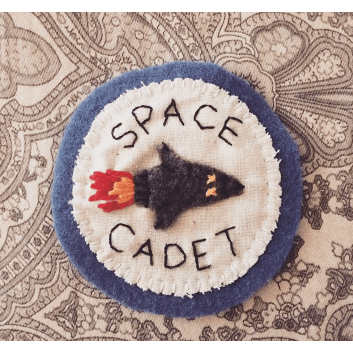 Felt and embroidery camp style patches