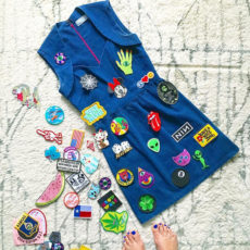 Funky diy patch dress
