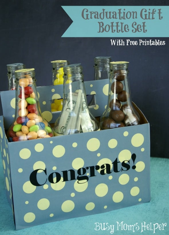 Graduation gift bottle set