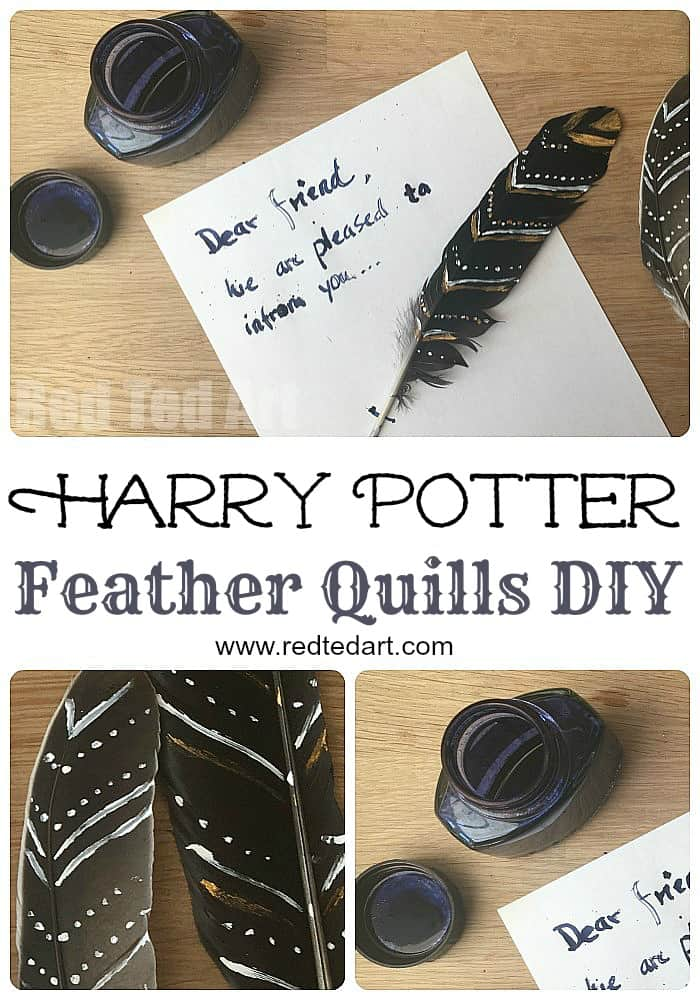 Harry potter inspired feather quill project