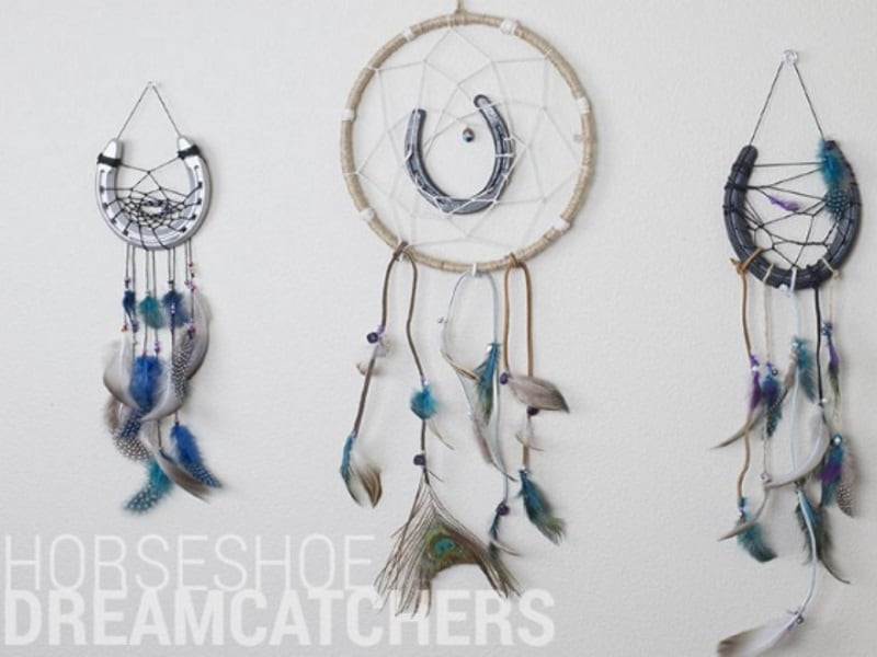 Horseshoe dream catchers